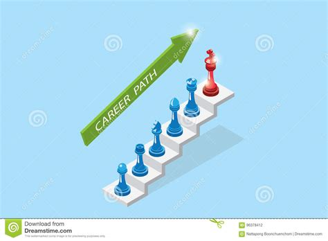 career chess how to win the corporate books isometric chess pieces represent career growth career
