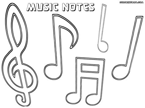 Music Note Coloring Pages Printable Coloring Image Note Coloring Pages