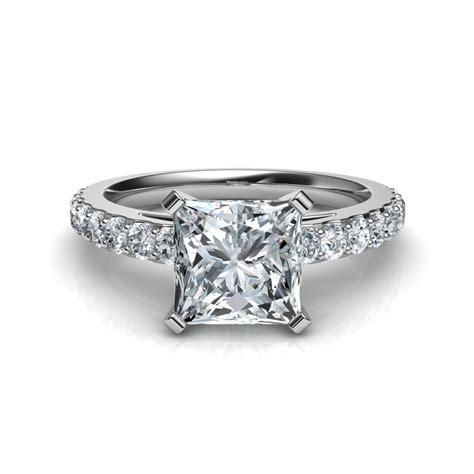 shared prong princess cut engagement ring natalie diamonds