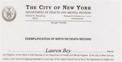 birth certificate with letter of exemplification apostilles and embassy legalization