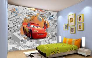 Wallpaper Kids Bedrooms Free Shipping Eco Friendy 3d Huge Mural Cartoon Car Papel