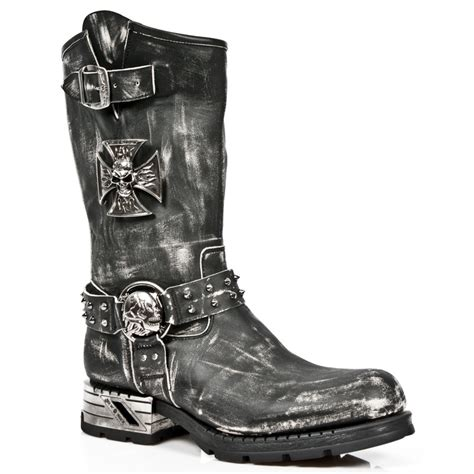 leather motorcycle boots vintage rub leather motorcycle boots w iron cross