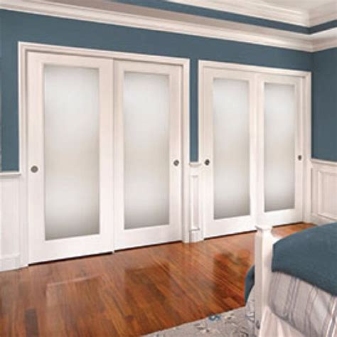 Closet Glass Door Frosted Glass Closet Doors Home