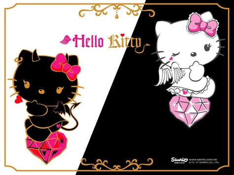 hello kitty rock wallpaper hello kitty devil wallpapers wallpaper cave