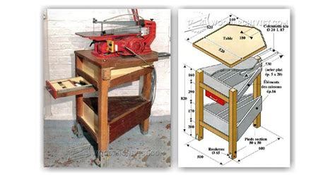 scroll saw bench plans diy scroll saw stand woodarchivist