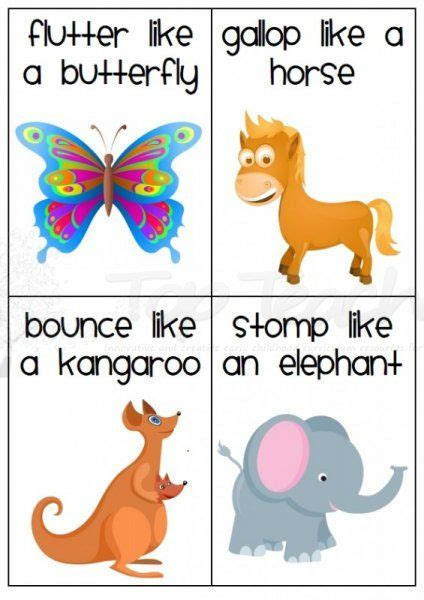 printable animal walk cards 20 animal movement cards for rainy day wiggles this