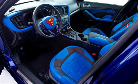car upholstery chicago kia optima hybrid project superman shown in chicago