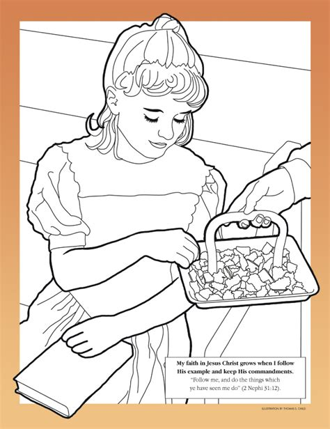 coloring pages lds sacrament coloring page liahona