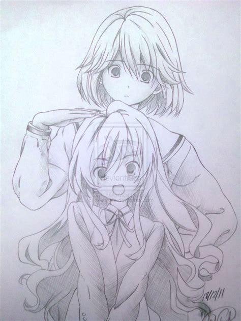 imagenes a lapiz de amigas dibujos manga a lapiz by sekairafa on deviantart