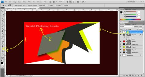 desain kartu nama retro tutorial photoshop cara membuat dan contoh desain kartu