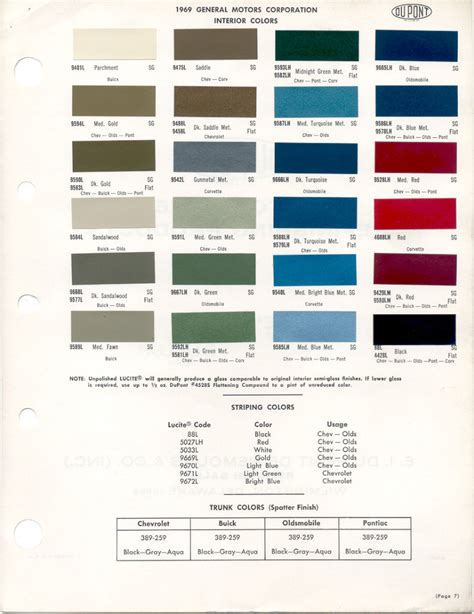 1969 camaro paint colors 81 1969 camaro paint charts and codes 108 best auto