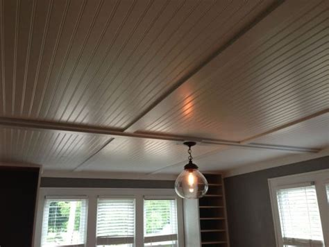 cover up popcorn ceiling cover up popcorn ceilings with inexpensive beadboard