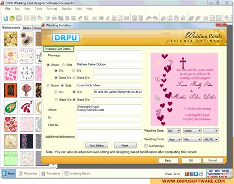 Drpu Wedding Card Designer Software by Screenshot Of Drpu Wedding Card Designer Software To
