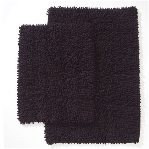 Ruia Home 2 Piece Chenille Shaggy Bath Rug Set Plum 20 47 Plum Bathroom Rugs