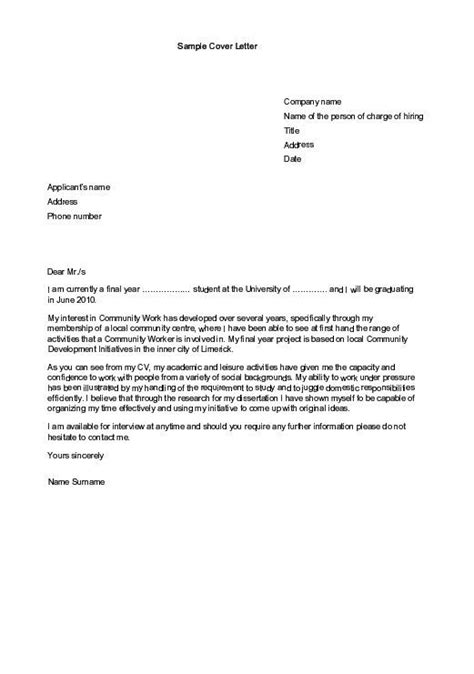 cover letter format for internship free sle of cv resume