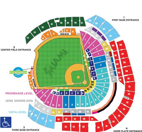 seating chart miami marlins best seats for foul balls at marlins park the best foul