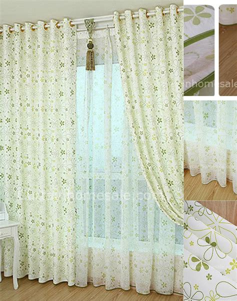 asian print curtains beautiful printed burlap white and green fiber bedroom