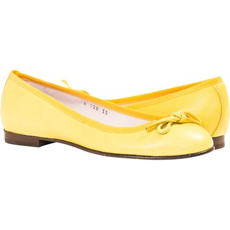 yellow flat shoes for lemon yellow leather ballerina flats paolo shoes