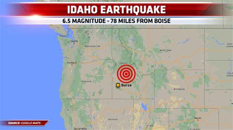 magnitude  earthquake hits  boise idaho