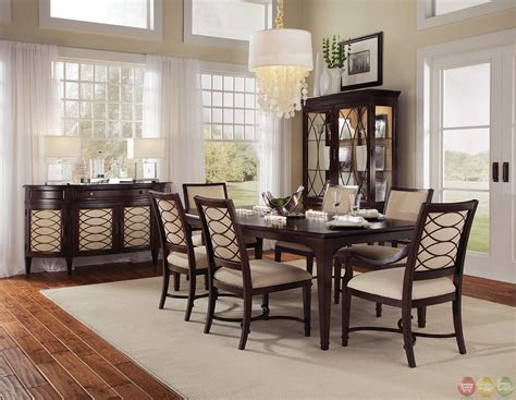 transitional dining room sets intrigue transitional contemporary wood formal dining furniture set upholstered chairs