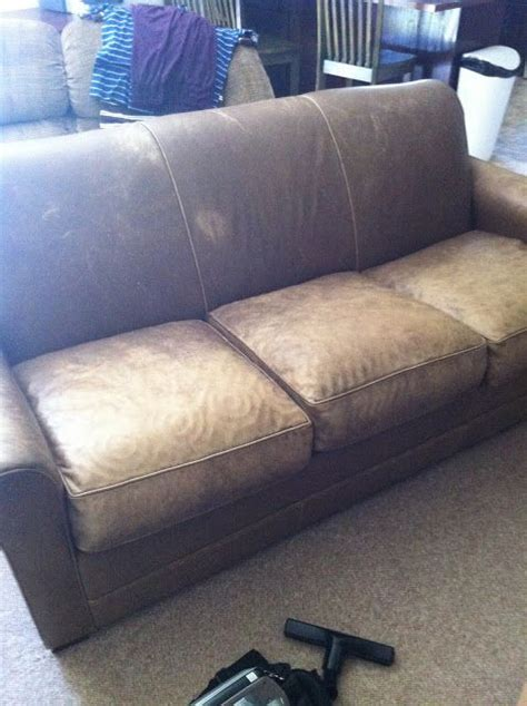 dyeing leather couch ugly leather sofa dyed with leather dye this is the