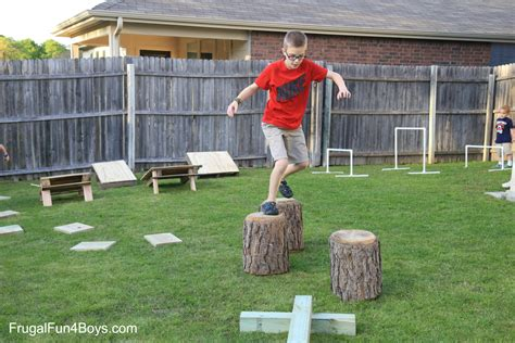 backyard obstacle course for kids diy american ninja warrior backyard obstacle course