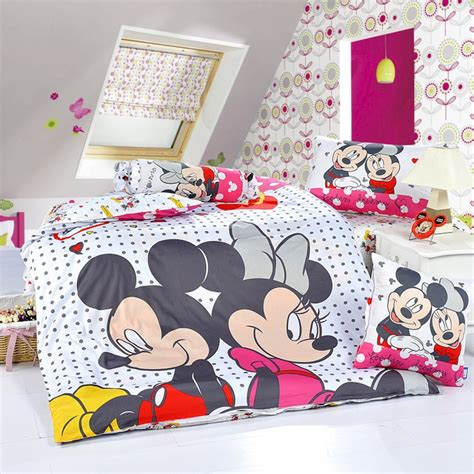 Mickey And Minnie White Style2 Disney Bedding Sets Mickey And Minnie Bed Set