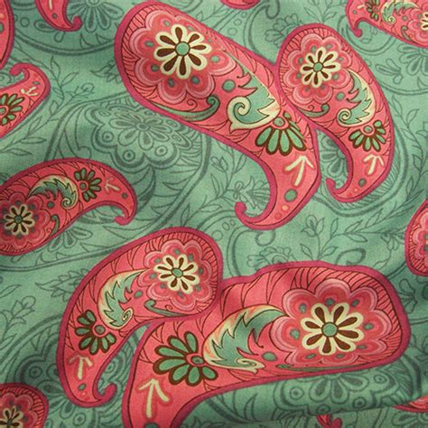 Cotton Lawn Paisley Design Fabric Uk
