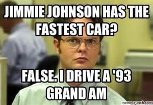 Meme Johnson - jimmie johnson has the fastest car