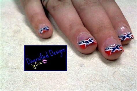 Rebel Flag Nail Design