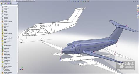 solidworks tutorial aircraft b 200 scale aircraft solidworks selcuk ozmumcu