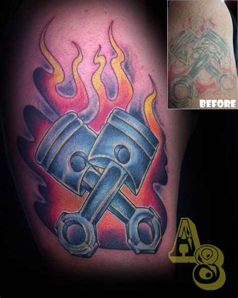 ross tattoos ross from aces and eights in lakewood wa flames