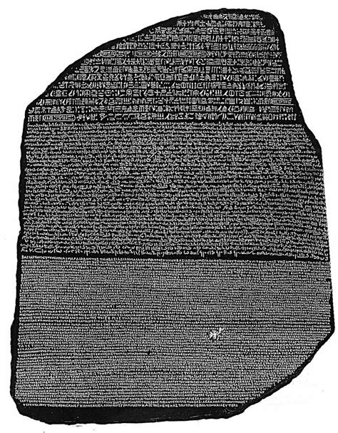 rosetta stone object the7wwiki ancient egypt