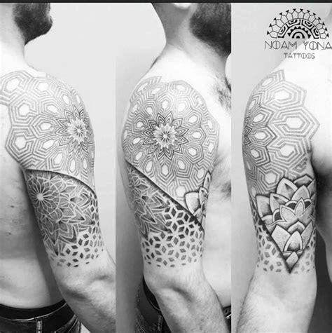 tattoo shoulder dotwork dotwork shoulder tattoo half sleeve best tattoo ideas