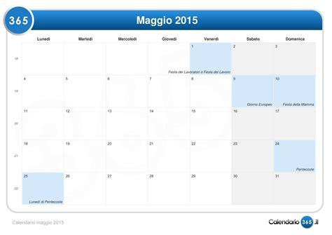 Calendario 8 Maggio 2015 Calendario Maggio 2015