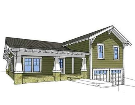 side split house plans architectural designs