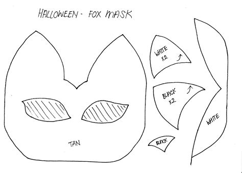 How To Make A Fox Mask Out Of Paper - stylenovice diy fox mask template