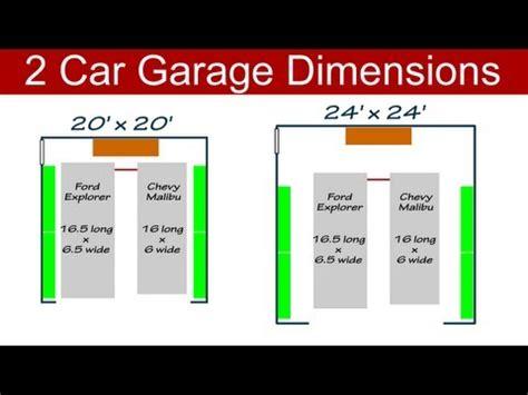 average 3 car garage size 2 car garage