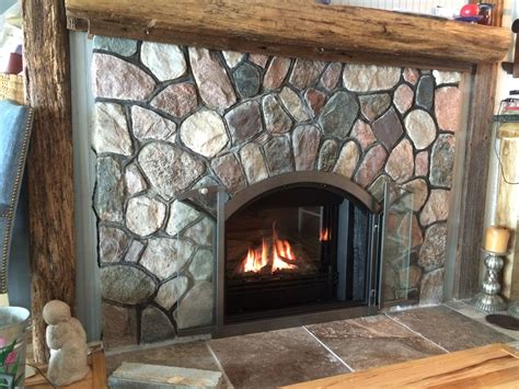 glass door fireplace insert valor g3 739jln gas insert in arched masonry fireplace