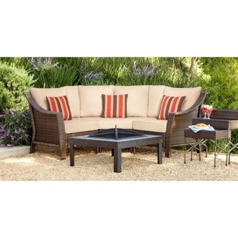 Target Outdoor Patio Furniture by Target Threshold Rolston 3 Wicker Patio Sectional