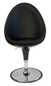 chaise oeuf design coque noir hauteur reglable chaise