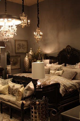 dark romantic bedroom bedroom glamour tan linens with silver accents im