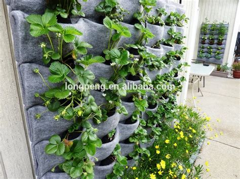 Outside Wall Planters by Wall Hanging Flower Pots Outdoor Wall Planters Flora Felt