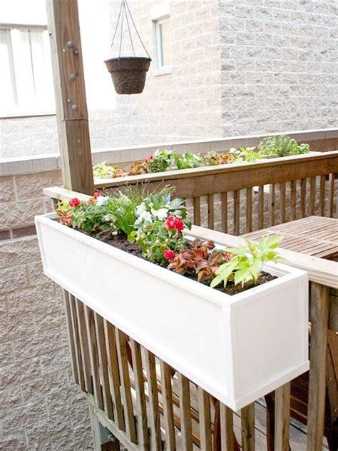 Diy Flower Boxes Kid S Pinterest Railing Planter Boxes