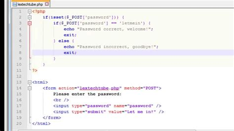 php pattern program code php programming ultra simple login script password