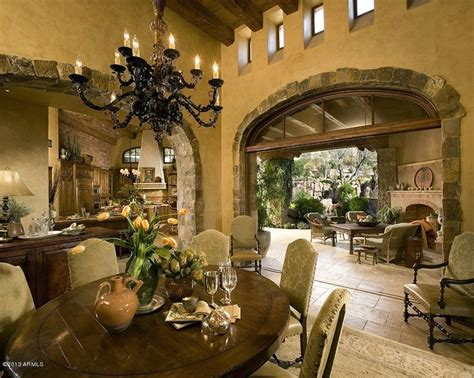 Spanish Interiors Homes | spanish style interior love them stoned archway stone