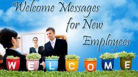 image gallery new employee welcome message