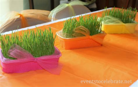 How To Make Grass Out Of Tissue Paper - easy centerpiece archives events to celebrate
