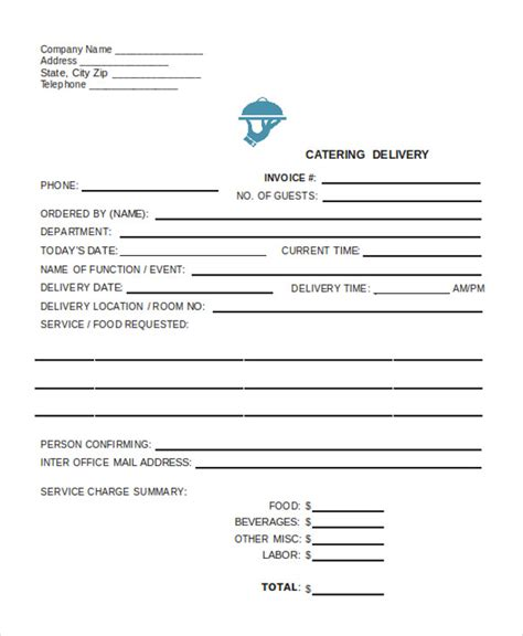 delivery invoice template delivery invoice templates 4 free word pdf format