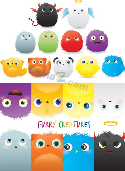 adorable plush animals vector material free download